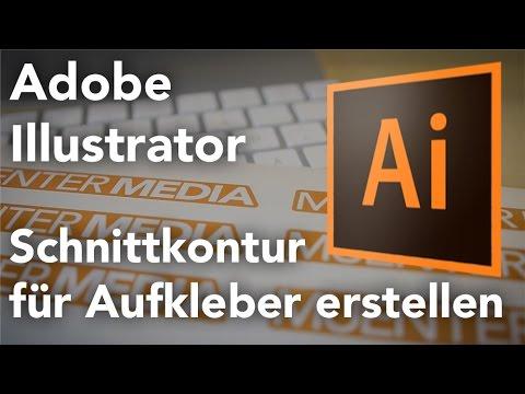 Illustrator - Aufkleber Schnittkontur erstellen (VersaWorks, Druckerei etc.) Tutorial German
