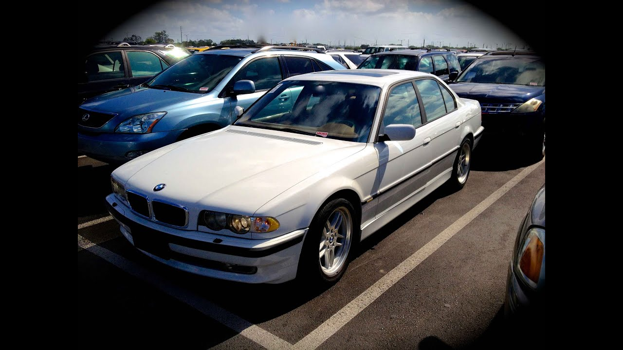 medium resolution of 2001 bmw 740i m sport e38 start up quick tour rev with exhaust view 97k