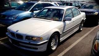 2001 BMW 740i M-Sport E38 Start Up, Quick Tour, & Rev With Exhaust View - 97K