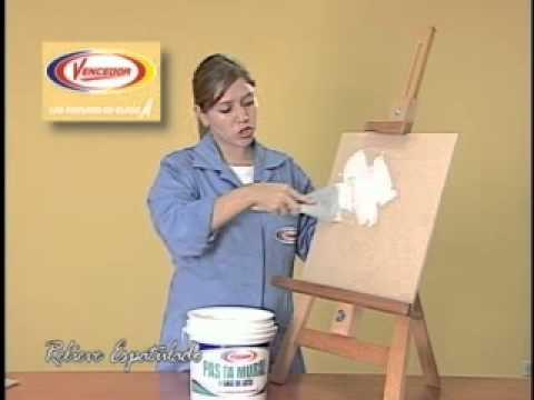 T cnicas faux relieve espatulado youtube for Imagenes de cuadros abstractos con relieve