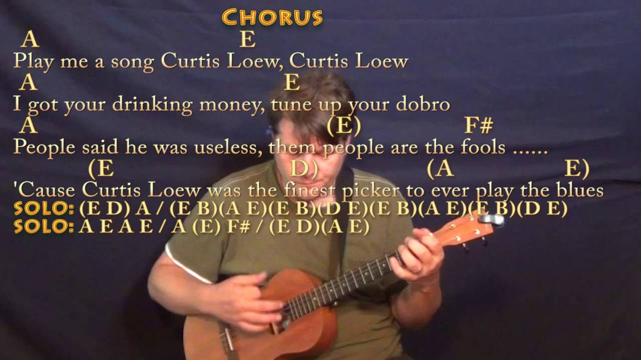 The Ballad of Curtis Loew Lynyrd Skynyrd Bariuke Cover Lesson with  Chords/Lyrics