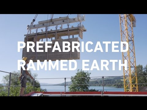 Building with raw earth - Prefabricated rammed earth