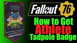 Fallout 76 How to get athlete tadpole badge NEW DLC