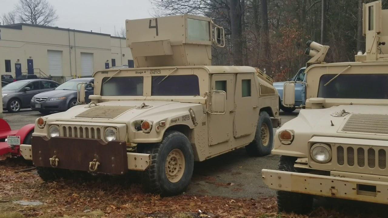 Uparmored Humvee M9 AM General Surplus - YouTube   hummer surplus