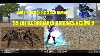 55 LVL HESAP İLE ÖRÜMCEK BARONES KESMEK | Metin2 TR #11