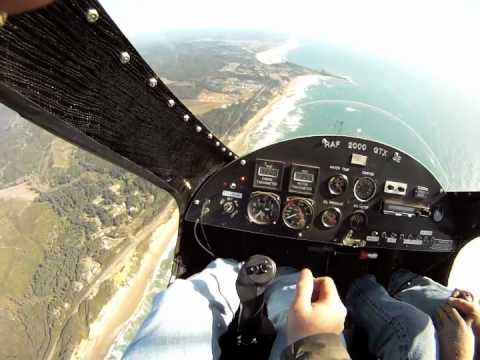 BD5 MicroJet filmed from a Gyrocopter with a Gopro Hero Camera