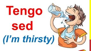 Spanish Lesson 50 -  I'm hungry Tengo hambre I'm thirsty Tengo sed Expressions about Food and Drinks