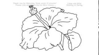 How to Draw a Hibiscus Flower Under 2 Minutes