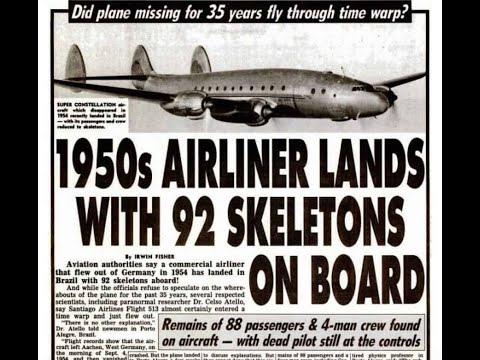 Santiago Flight 513  Disappeared In 1954 And Landed In 1989 With 92 Skeletons