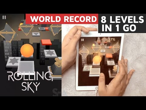 Rolling Sky 1k sub Challenge! 8 Levels WITHOUT LOSING! 100% complete All Gems All Crowns