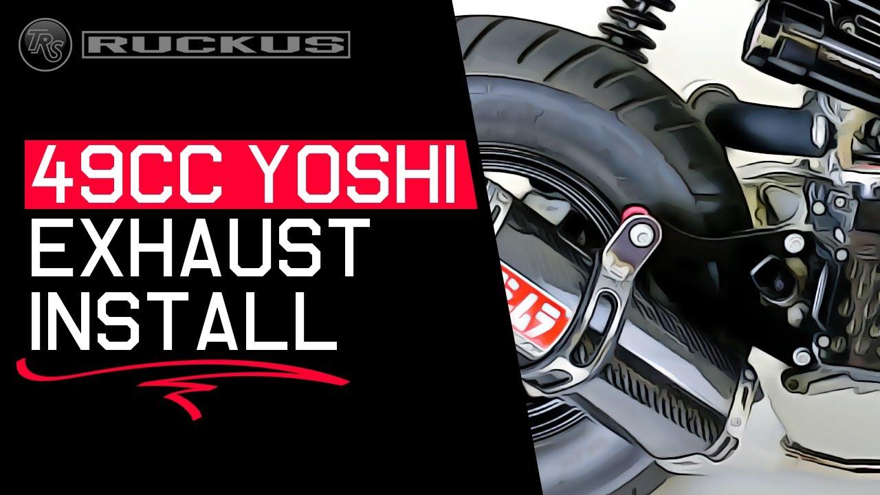 hight resolution of 49cc honda ruckus yoshimura exhaust install