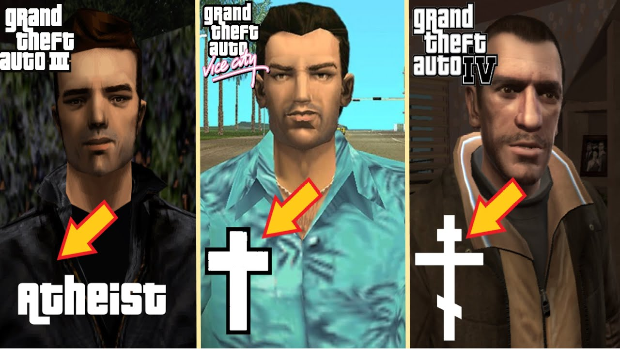 Evolution of GTA PROTAGONISTS Religions over the years | GTA Main Characters Comparison