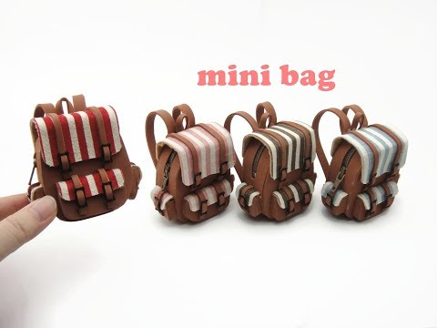 DIY Miniature Doll Mini School Bag Backpack
