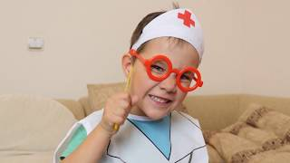 Kid Plays a Doctor