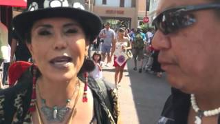 Walking around Santa Fe Indian Market 2015 with Harlan McKosato 2