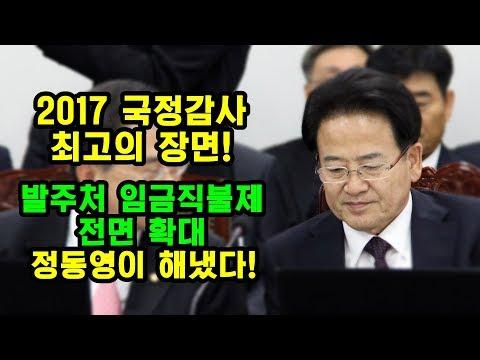 [2017 국정감사] 정동영 '발주처 임금직불제 전면 확대' 답변 얻다! (직캠)