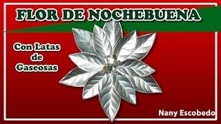 FLOR DE NOCHEBUENA CON LATAS DE GASEOSAS