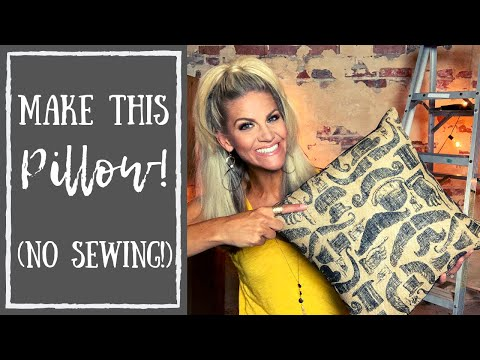 No Sew Pillow Covers (How To Use Fabric Glue)