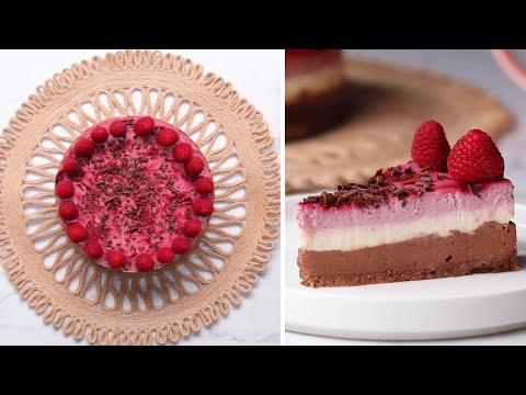 Chocolate Raspberry Greek Yogurt Cheesecake