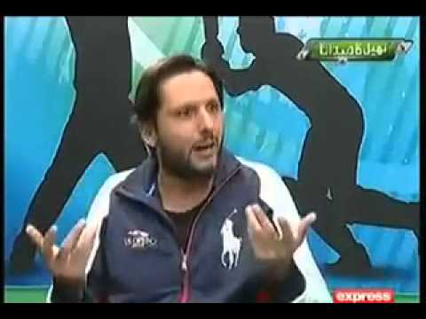 Shahid Afridi giving clarification on Shoaib Akhtar