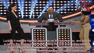 Family Feud  Kim Kardashian and Kanye West win for charity FUNNY!