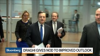 ECB's Draghi Looks for Help as Economic Risks Improve