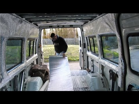 015) INSULATING part 2 ~ Ford Transit Minibus Camper Conversion Vanlife 9/3/2017