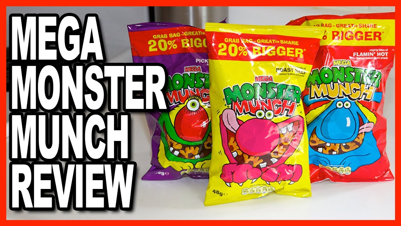 MEGA ★ Monster Munch Review - Treats from the UK, thanks Glen