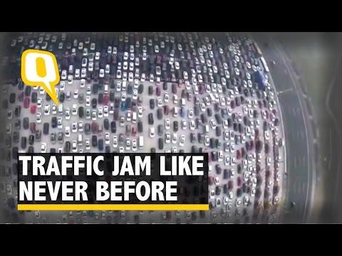 Drone Footage Captures Traffic Jam Like Never Before YouTube - Incredible drone footage captures hong kong