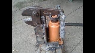 Khả năng cắt của kéo cắt sắt thủy lực tự chế, cắt được sắt tròn 16mm