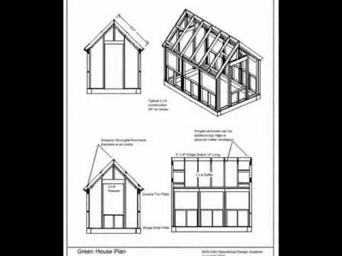 The Wood Frame Green House Plans