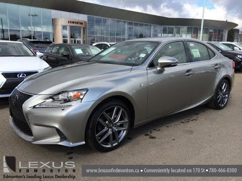 New Atomic Silver On Red 2015 Lexus IS 250 F Sport Series 3 Review Sdn Auto  AWD   Edmonton, Canada   YouTube