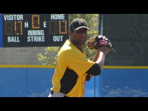 Rinku Singh pitching - Pittsburgh Pirates LHP - Million Dollar Arm
