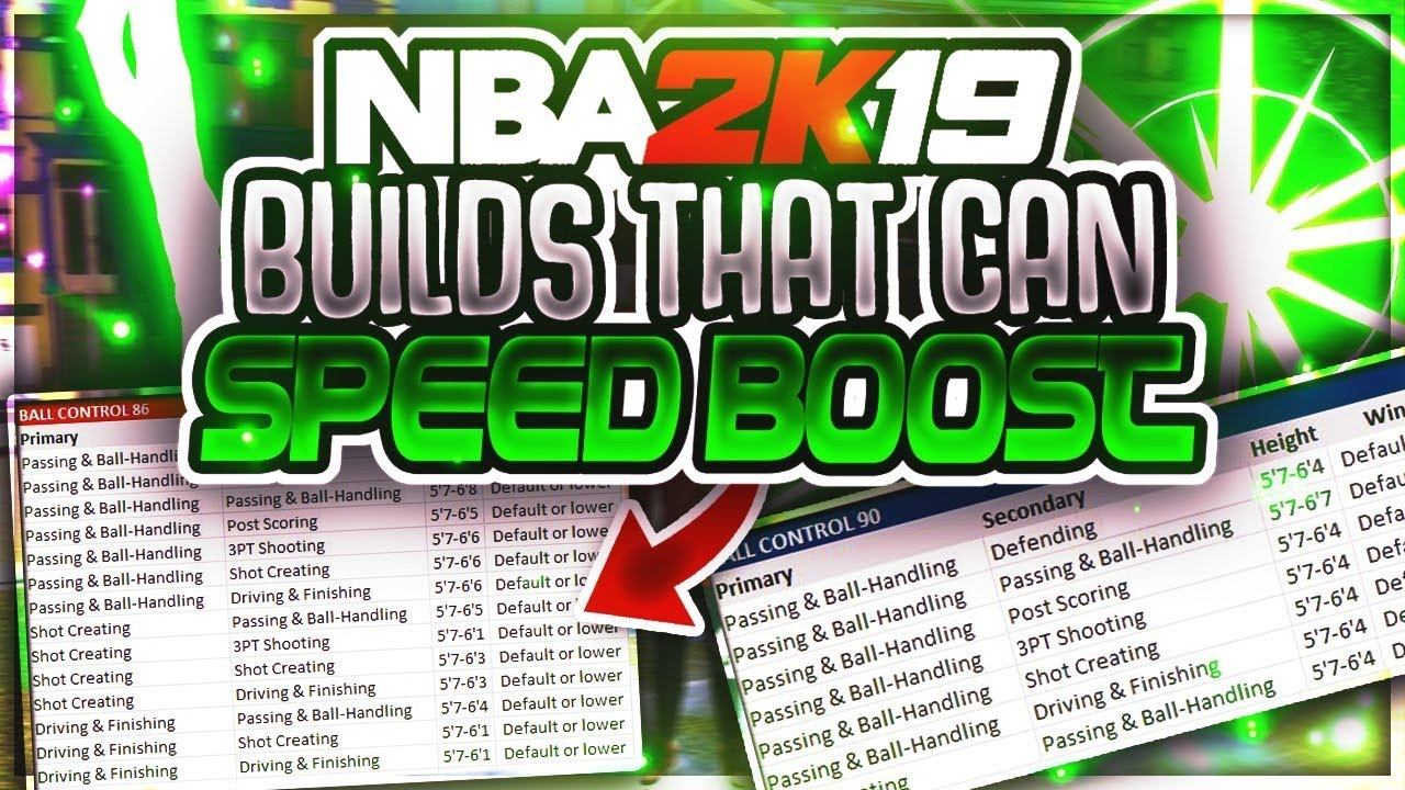 Every build that can speed boost in nba  also youtube rh