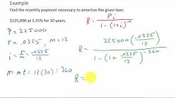 How to Calculate Amortization Payments