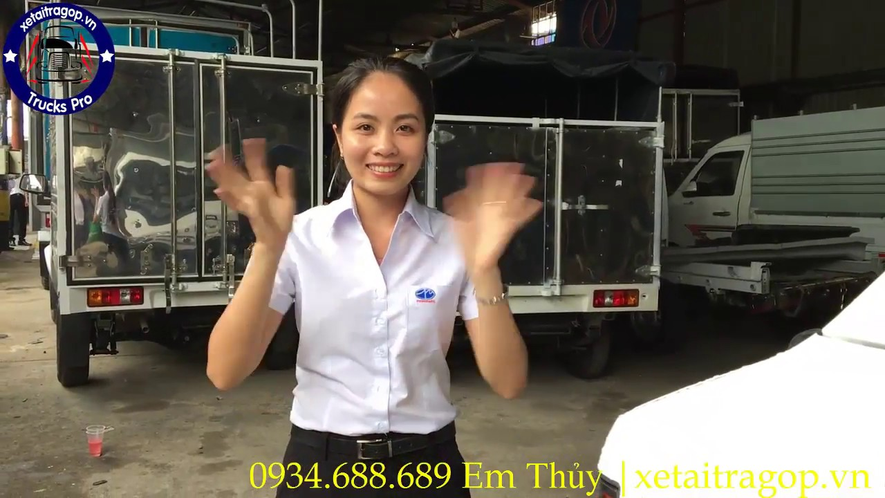 Gía xe tải Dongben 990kg thùng cánh dơi/ bán xe tải Dongben thùng cánh dơi - YouTube