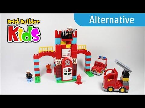 Lego DUPLO 10593 Fire Station - Alternative build #1 - Lego Speed ...
