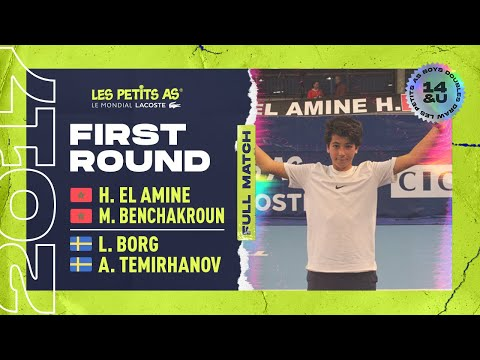 BENCHAKROUN/EL AMINE (MAR) vs BORG/TEMIRHANOV (SWE) - 1st round doubles - Les Petits As 2017