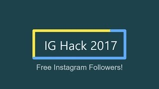 Instagram Free Followers 2017 - Get followers instantly + Unlimited Followers
