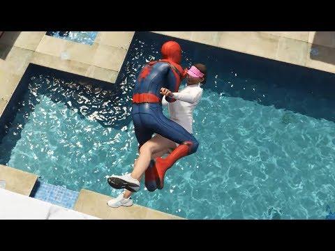 GTA 5 Water Ragdolls | SPIDERMAN Jumps/Fails #30 (Euphoria Physics | Funny Moments)