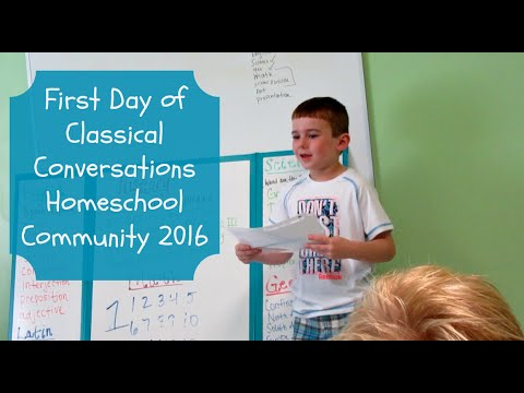 First Day of Classical Conversations Homeschool Community 2016