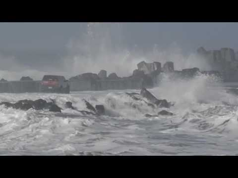 Driving Out on Humboldt Bay's North Jetty is Not Advised