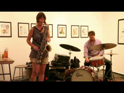 Ingrid Laubrock, Dave Miller, Jeff Davis - at culturefix, NYC - Sep 4 2012