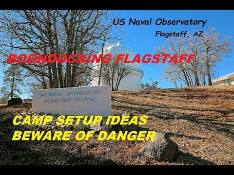 FLAGSTAFF, AZ.  Free Boondocking, Naval Observatory Campground,