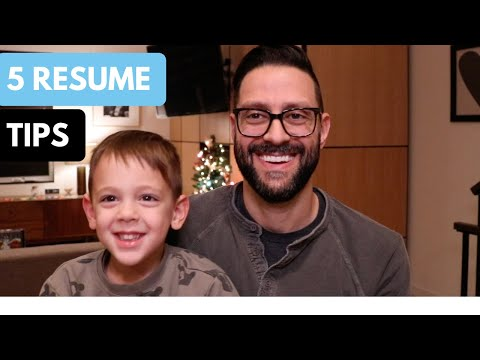 Resume Tips - 5 Resume Tips To Actually Get Noticed (2018)