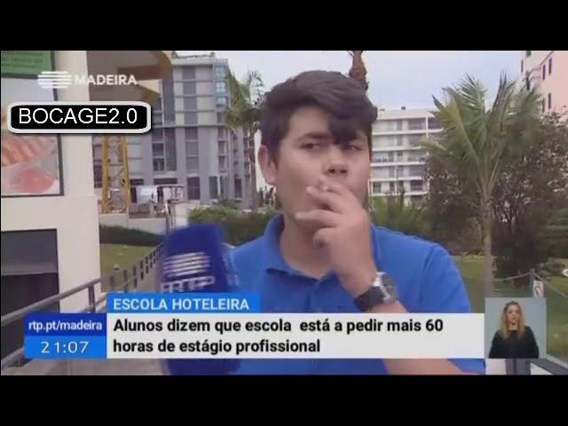Fuma cigarro durante entrevista em direto