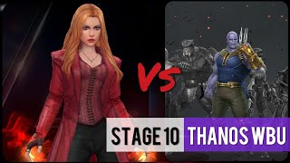 Scarlet Witch (Infinity War) Vs Stage 10 Thanos WBU | World Boss Ultimate - Marvel Future Fight