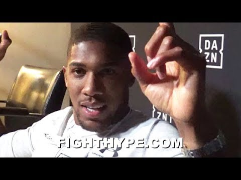 ANTHONY JOSHUA TELLS ALL ON DEONTAY WILDER NEGOTIATIONS; GIVES HIS TAKE & HOPES TO UNIFY IN APRIL