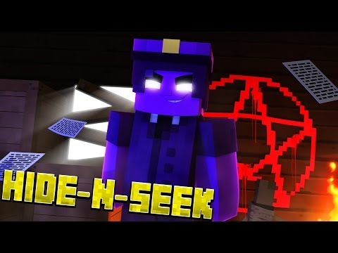 PURPLE GUY RITUAL! Minecraft FNAF Sister Location HIDE N SEEK