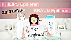 BRAUN Silk Epil 9 💥vs. PHILIPS Satinelle Pestige Deutsch 🛀 - DER EPILIERER TEST 🔍!! | Diie Jule
